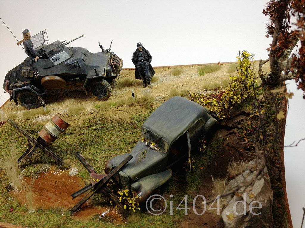 """Sd.Kfz. 222 und Citroen Traction 11CV / 1:35 """"Depesche verloren"""""""