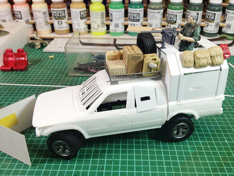 Baubericht Zombie Pickup mit Diorama 3 Bodywork