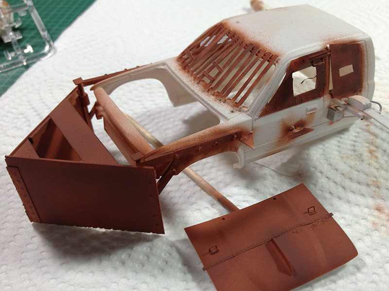 Baubericht Zombie Pickup mit Diorama 5 Frontpflug