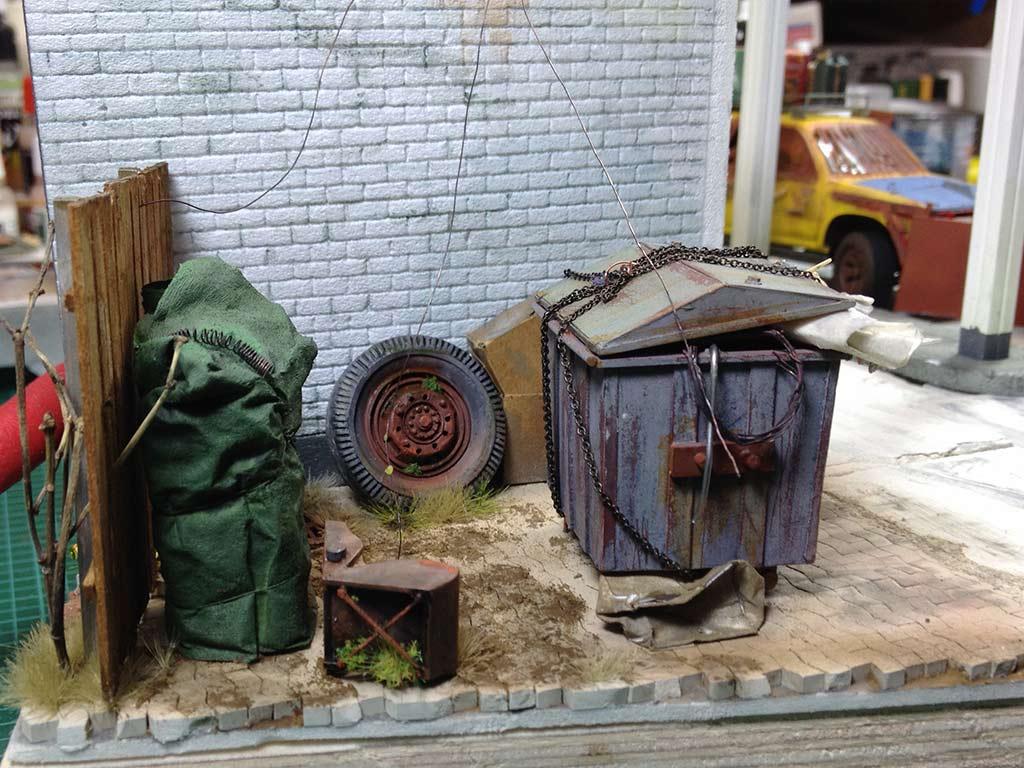 Baubericht Zombie Pickup mit Diorama 10 Die Zombies