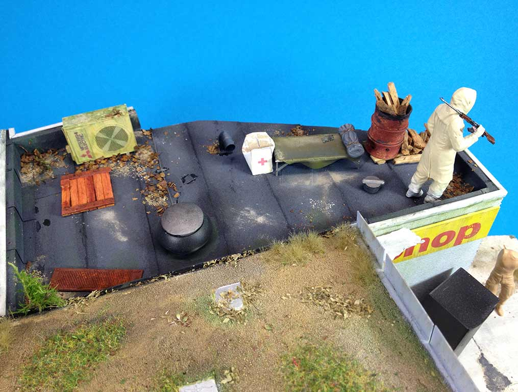Baubericht Zombie Pickup mit Diorama 11 Tankstellen Details