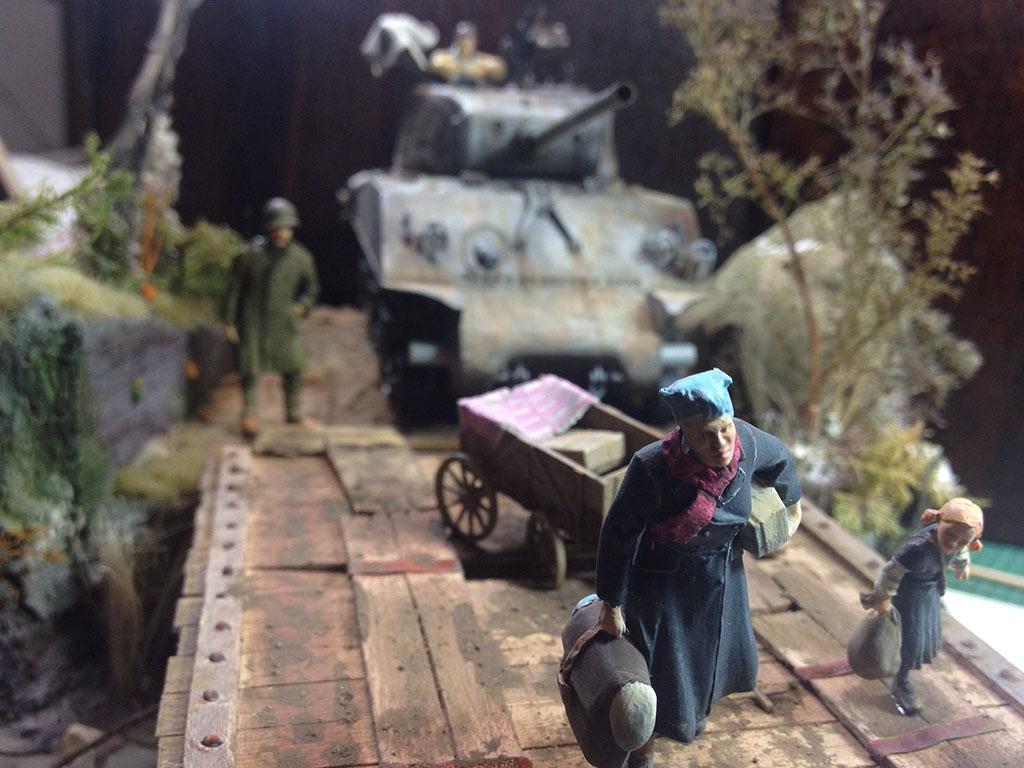 """Sherman M4A3 / 1:35 Diorama """"kommt gut Heim!"""""""