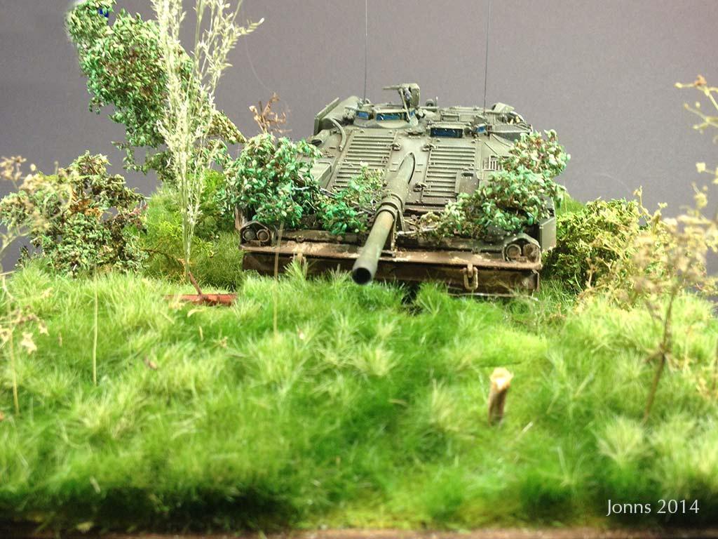 """Diorama Strv 103B S-Tank / 1:35 """"Lauerstellung"""""""