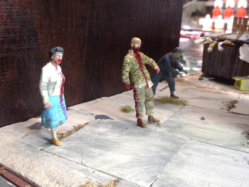 Baubericht Zombie Pickup mit Diorama 12 Zombies 2