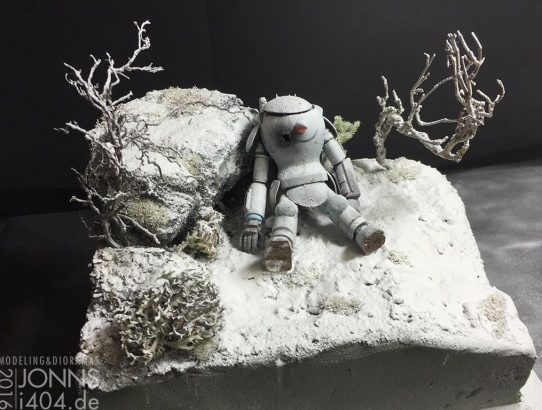Neues Winter Diorama, Tod im Schnee, Ma.K., WIP, 1:20